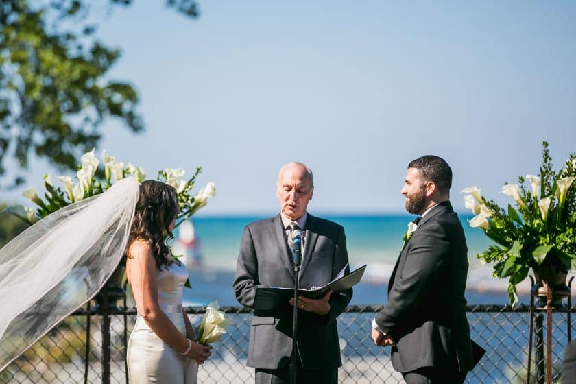 michigan wedding ceremony by lake