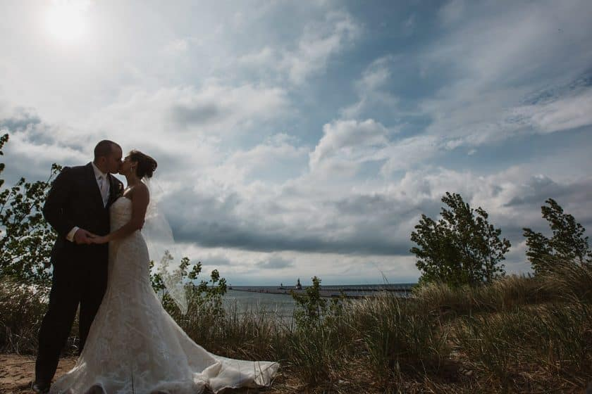 st. joseph lighthouse wedding photo